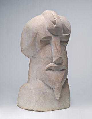 Henry Gaudier-Brzeska - Hieratic Head of Ezra Pound, 1914, marble.